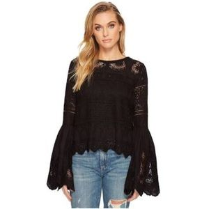 NWT FREE PEOPLE Crochet Knit Top